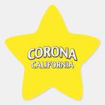 Corona California Pegatina En Forma De Estrella