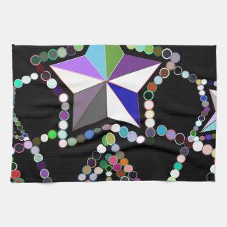 Corona colorida de la princesa hecha de gotas y de toallas de mano
