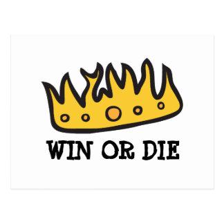 Corona conseguida (de rey bruto del búho de postal