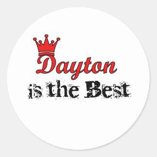 Corona Dayton Etiqueta Redonda