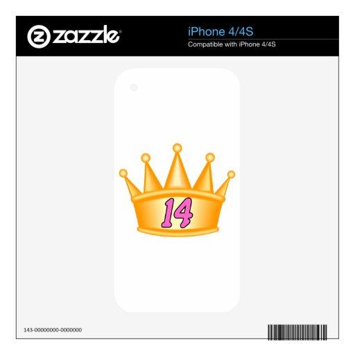 Corona de 14 cumpleaños iPhone 4S skin
