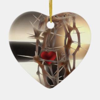 Corona-de-Espinas Adorno Navideño De Cerámica En Forma De Corazón