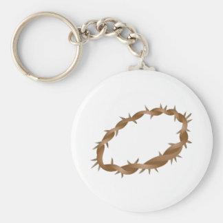 Corona de espinas llavero redondo tipo pin