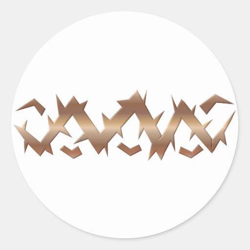 Corona de espinas - Viernes Santo Pegatina Redonda