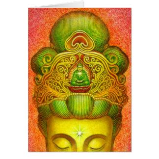 Corona de Kuan Yin de la diosa Tarjeta De Felicitación