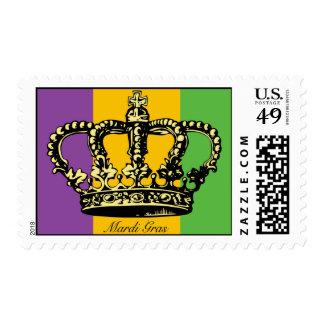 Corona de la bandera del carnaval sellos postales