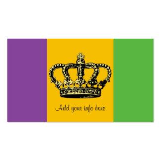 Corona de la bandera del carnaval plantillas de tarjeta de negocio