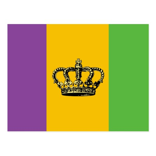 Corona de la bandera del carnaval tarjetas postales