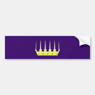 Corona de la daga de Dolchkrone Pegatina De Parachoque