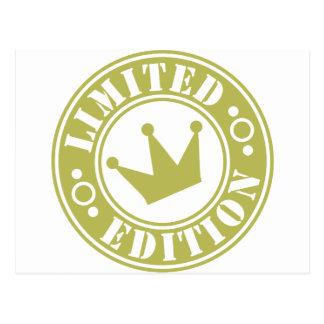 corona de la edición limitada postales