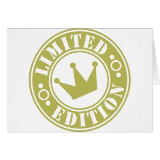 corona de la edición limitada tarjeta de felicitación