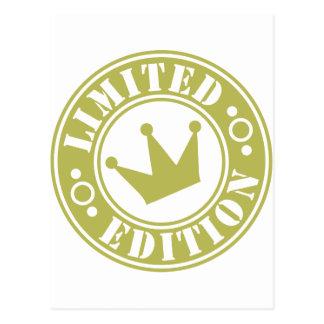 corona de la edición limitada tarjeta postal