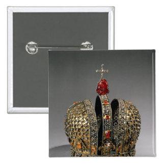 Corona de la emperatriz pin cuadrada 5 cm