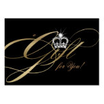 Corona de la joyería del oro del vale del salón de tarjetas de visita