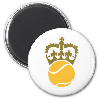 Corona de la pelota de tenis iman