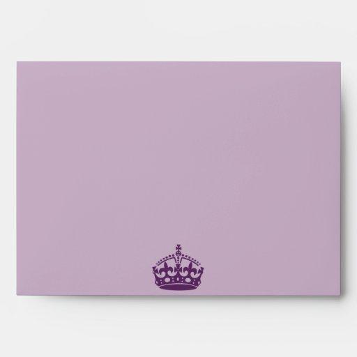corona de la púrpura real de la opción 5 del sobre