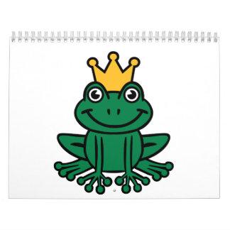 Corona de la rana calendarios