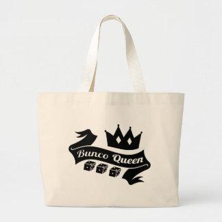 Corona de la reina de Bunco y cinta de los dados Bolsa De Tela Grande