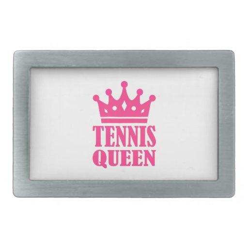 Corona de la reina del tenis hebillas cinturon rectangulares