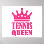 Corona de la reina del tenis impresiones