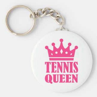 Corona de la reina del tenis llavero personalizado