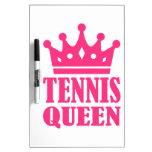 Corona de la reina del tenis pizarra blanca