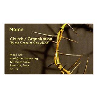 Corona de la tarjeta II de las espinas Plantillas De Tarjetas Personales