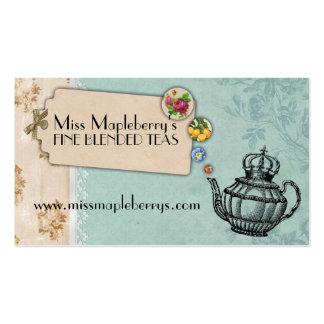 corona de la tetera del vintage elegante tarjetas de visita