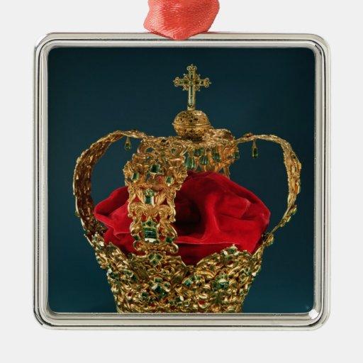 Corona de los Andes Adorno Cuadrado Plateado