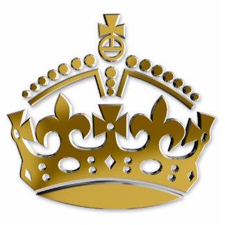 Corona de oro adorno fotoescultura