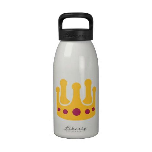 Corona de oro botellas de agua reutilizables