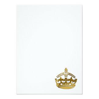 """Corona de oro invitación 5.5"""" x 7.5"""""""