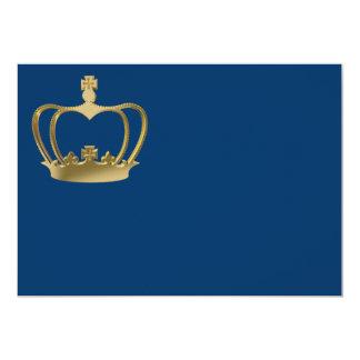 """Corona de oro invitación 5"""" x 7"""""""