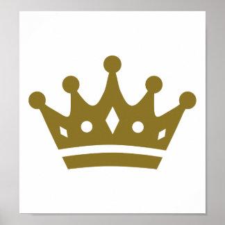 Corona de oro impresiones