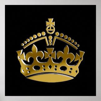 Corona de oro poster
