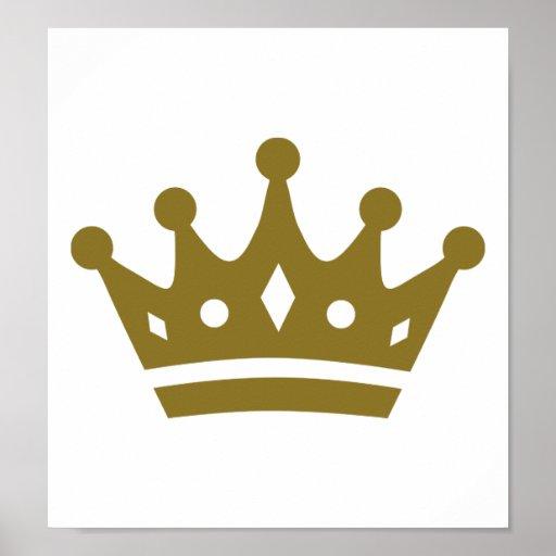 Corona de oro póster
