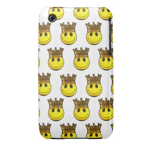 corona de oro sonriente 3d iPhone 3 protector