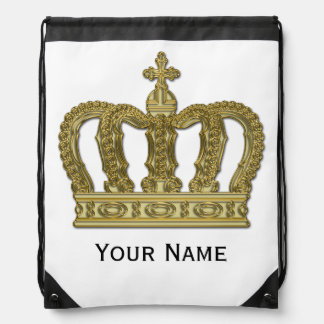 Corona de oro + su texto mochila