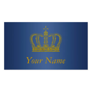 Corona de oro + su texto tarjetas de visita