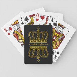 Corona de oro + sus ideas baraja de póquer