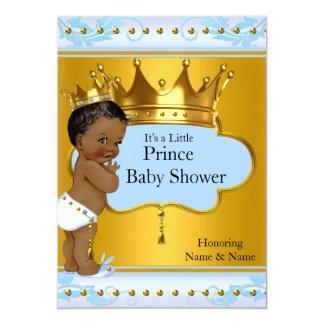 """Corona de príncipe Cute Boy Blue Gold de la fiesta Invitación 5"""" X 7"""""""