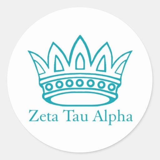 Corona de ZTA con ZTA Pegatina