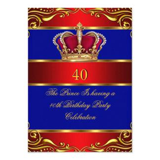 """Corona del azul del príncipe rey Regal Red Gold de Invitación 4.5"""" X 6.25"""""""