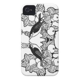 Corona del caso del iphone de los gorriones funda para iPhone 4 de Case-Mate