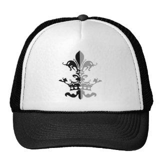Corona del corazón de Fleur - negro Gorros Bordados