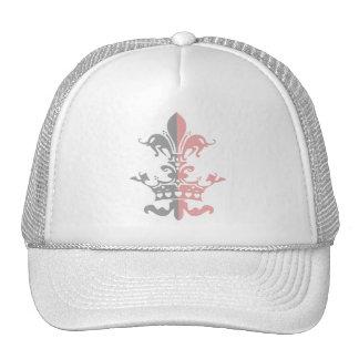 Corona del corazón de Fleur - rosa Gorros Bordados