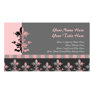 Corona del corazón de Fleur - rosa Tarjetas De Visita