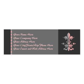 Corona del corazón de Fleur - rosa Tarjetas De Visita Mini