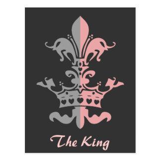 Corona del corazón de Fleur - rosa Tarjeta Postal