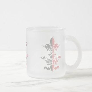 Corona del corazón de Fleur - rosa Taza De Cristal
